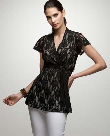 Lindos modelos de blusas con encaje