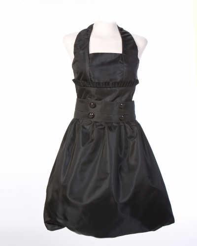 vestido-negro-en-tafeta-linea-globo!