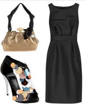 Accesorios para vestido de fiesta negro