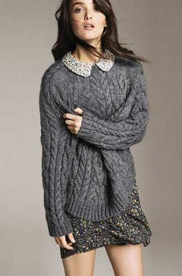2015 otoño invierno Pullover para mujeres moda de encaje