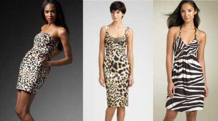 Vestidos con estampado animal print