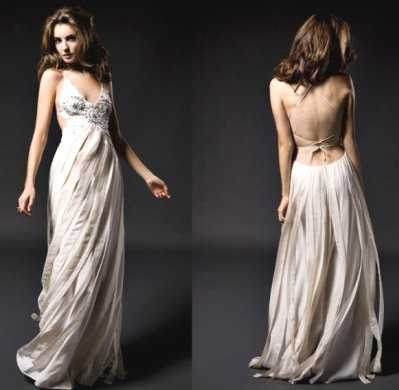 vestidos largos escotados adelante