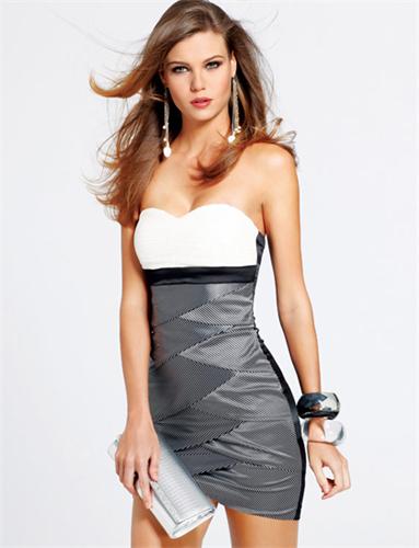 Vestidos strapless elegantes cortos