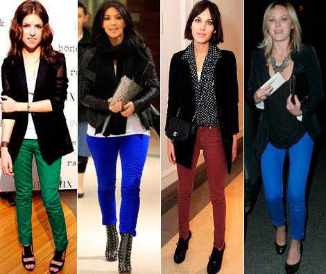 pantalones de colores 2012 4 mujeres