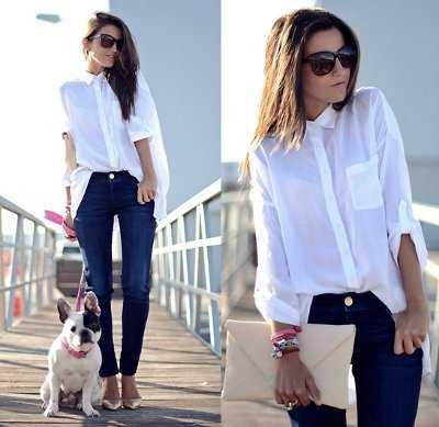 Ejemplo perfecto de cómo llevar una maxi blusa con un típico jean azul.