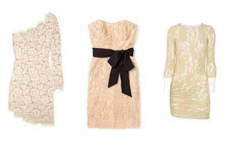 Accesorios para un vestido beige corto
