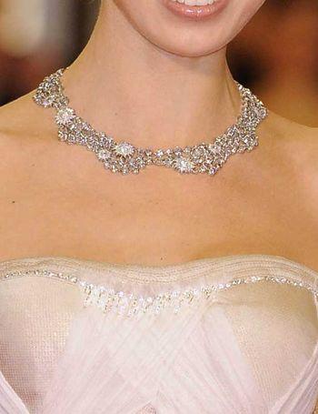 Si el borde del strapless no tiene nada de brillantes ni piedras, un collar o gargantilla puede ser una b uena opción