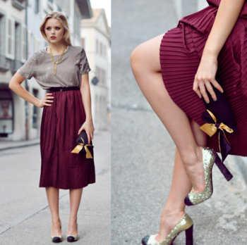 c9d809490 Vestidos y faldas plisadas  ¿cómo llevarlas
