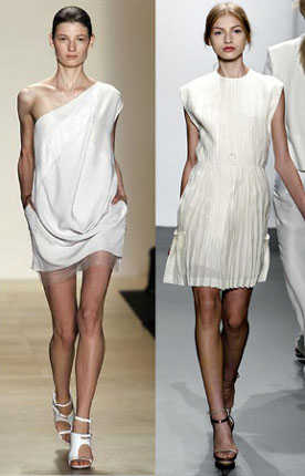 Color de zapatos para vestido blanco de noche