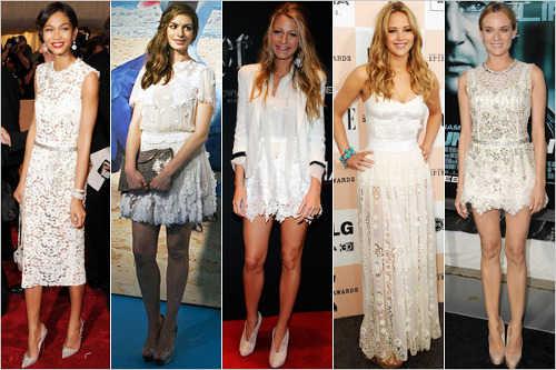 Zapatillas para vestido blanco corto