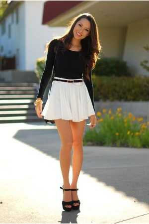Ropa para una fiesta black and white