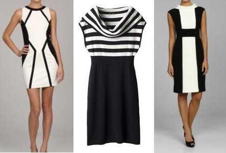 Accesorios para combinar con vestido blanco y negro