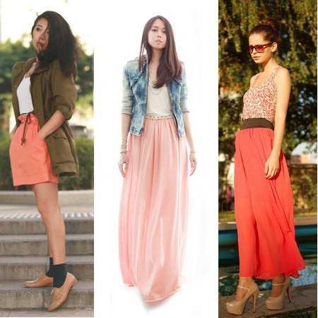 Miles De Outfits Con Una Falda Color Coral | Web De La Moda