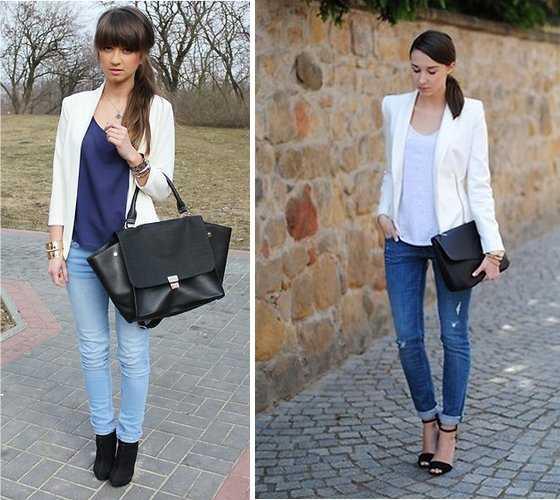 Blazer para mujer con jeans u2013 Chaquetas de moda para la temporada 2018