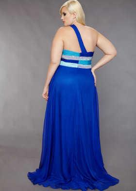 Vestidos de color azul electrico con plateado