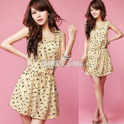 La tendencia naif también la encuentras en Asia, ¡y en lindos vestidos!