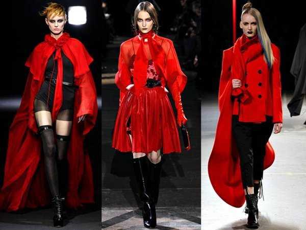 El color rojo también está presente en las prendas de estilo Gótico