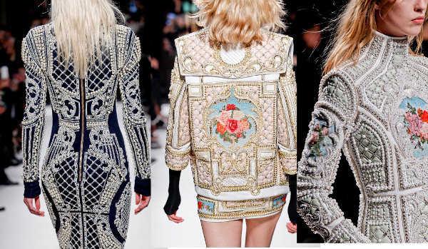 Vestidos futuristas con estilo barroco de Balmain