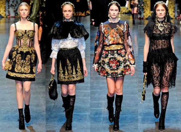 vestidos de alta costura de Dolce & Gabbana