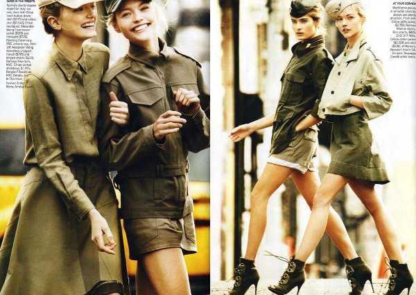 Tendencia militar en abrigos, chaquetas y parkas