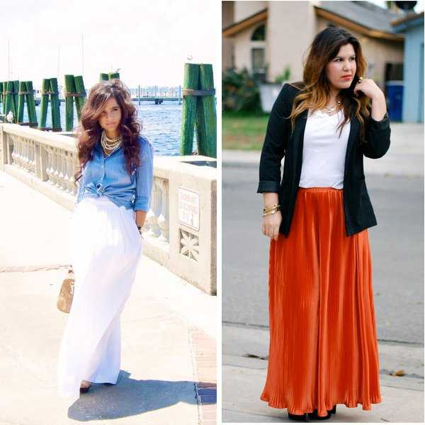 types maxi skirt