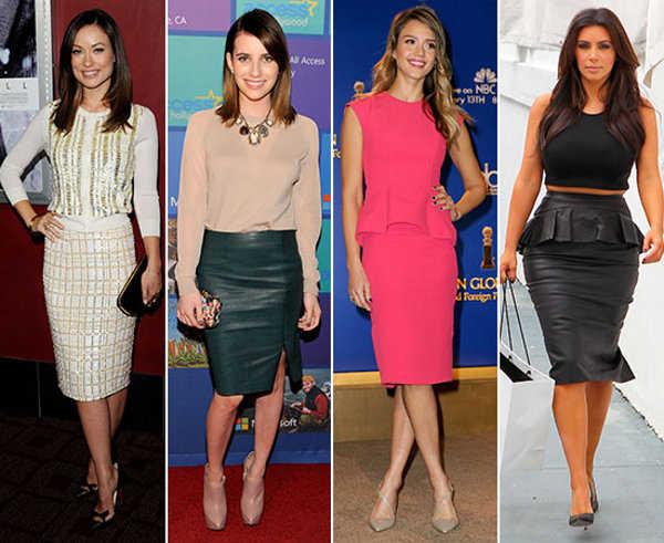 Las estrellas de Hollywood también han optado por una falda retro