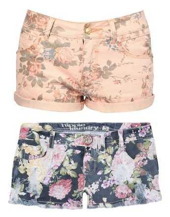 shorts-floreados