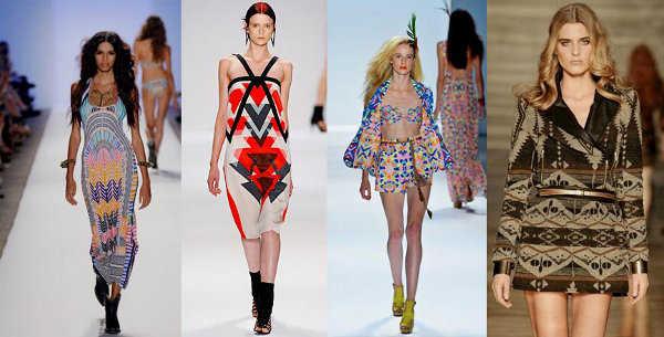 Vestidos cortos con características geométricas