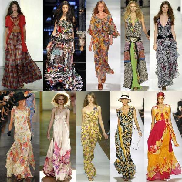 Los maxi vestidos están llenos de color