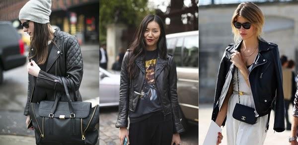 Una chaqueta de cuero es el básico para toda chica rebelde