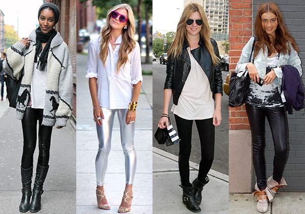 La regla fundamental para lucir tus leggings manda usarlos con una camiseta, camiseta o sweater que te tape al menos la mitad de la cola